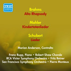 Vocal Recital: Anderson, Marian - Brahms, J. / Mahler, G. / Schubert, F. (1951)