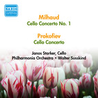Milhaud, D.: Cello Concerto No. 1 / Prokofiev, S.: Cello Concerto (Starker) (1956)