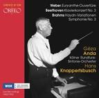 Weber, Beethoven & Brahms: Orchestral Works (Live)