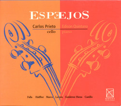 Cello Recital: Prieto, Carlos Miguel - Falla, M. De / Halffter, E. / Marco, T. / Lavista, M. / Heras, J.G. / Castillo, M. (Mirrors)