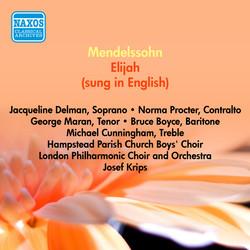 Mendelssohn, F.: Elijah (Sung in English) (Delman, Procter, Maran, Krips) (1954)