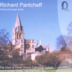Pantcheff: Choral and Organ Works