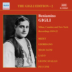 Gigli, Beniamino: Gigli Edition, Vol.  2: Milan, Camden and New York Recordings (1919-1922)