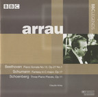 Arrau - Beethoven: Piano Sonata No. 13 - Schumann: Fantasy - Schoenberg: 3 Piano Pieces