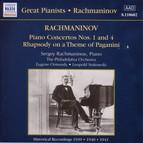 Rachmaninov: Piano Concertos Nos. 1 and 4 (Rachmaninov) (1939-1941)