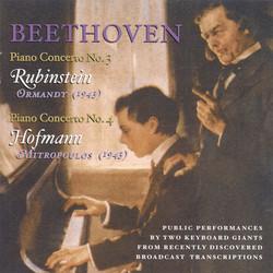 Beethoven, L. Van: Piano Concerto Nos. 3 (Rubinstein, Ormandy) (1943) / Piano Concerto No. 4 (Hofmann, Mitropoulos) (1943)