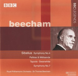 Beecham - Sibelius: Swanwhite Suite / Symphonies Nos. 4 and 7 / Pelleas and Melisande / Tapiola / The Tempest Suite No. 2 (1954-1955)